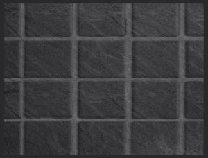 Tilepanel Embossed Black Slate Small Gloss 7146S